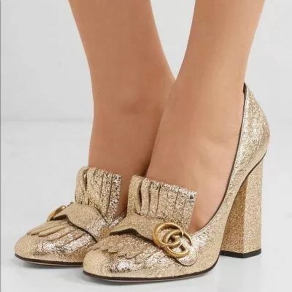 Authentic Marmont Gold Pumps Heels